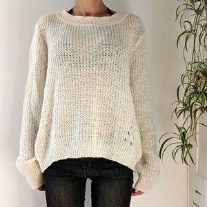 Loose knit cream sweater